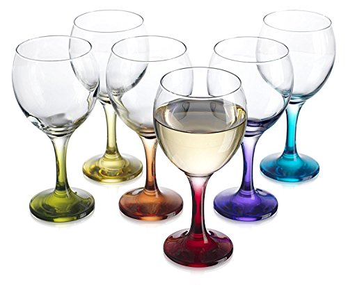Metal Wine Glass Holder: Artistic Elegant 6 Hook Silver Chrome Tone Metal Wine