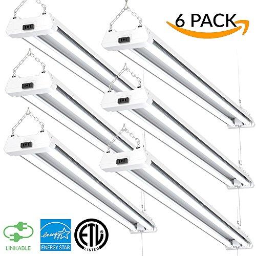 Lights Of America 4 Ft Led Shop Light 8140 5000k: 4ft 40W LED Utility Shop Light, 4000lm 120W