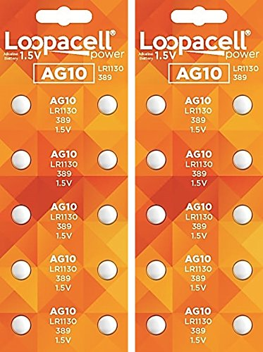 2 X 10 Pack Maxell Ag13 Lr44 357 Button Cell Battery