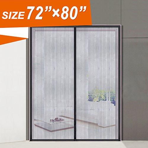 Magnetic Screen Door Durable Polyester Fibre Mesh Curtain