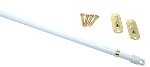 7 11 5 5 16 Swivel End White Sash Curtain Rods 2 Per