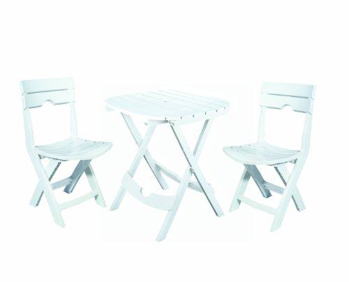 Adams Manufacturing 8575 48 3700 Quik Fold Chair White